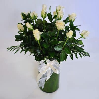 Vase Arrangement – White
