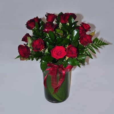 Vase Arrangement – Red