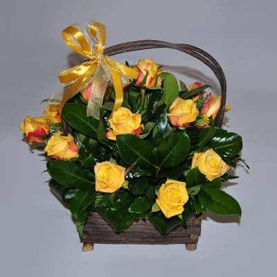 Basket Arrangement – Yellow