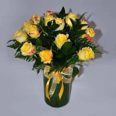 Vase Arrangement – Yellow