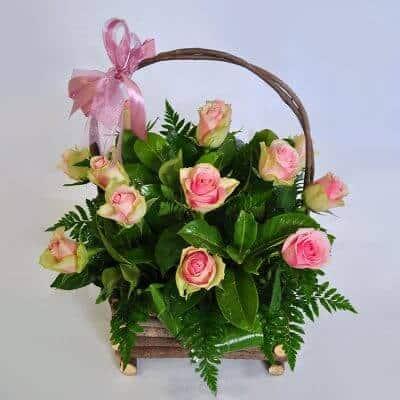Basket Arrangement – Pink