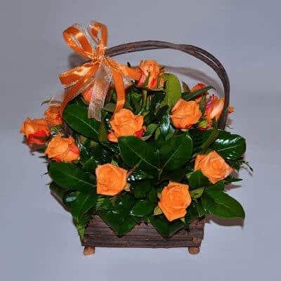 Basket Arrangement – Orange