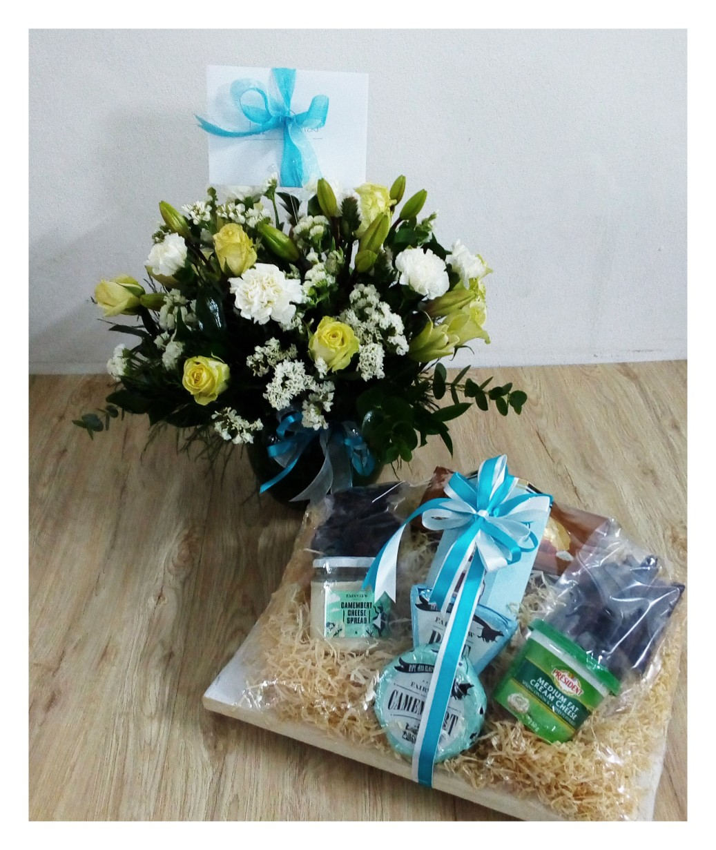 Cheese Hamper/ Flower Posey