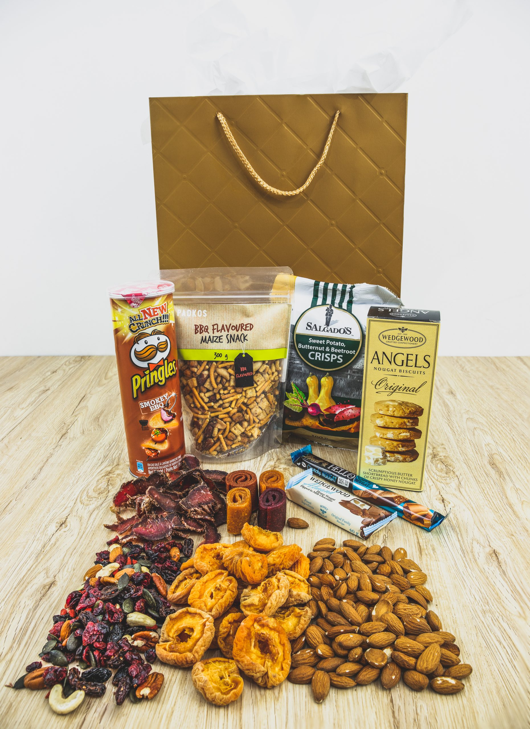 Biltong, Dried Fruit & Nuts, Chips, Crisps, Biscuits And Chocolate Hamper
